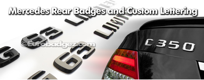 Mercedes Benz Badges and Mercedes Benz Chrome Lettering